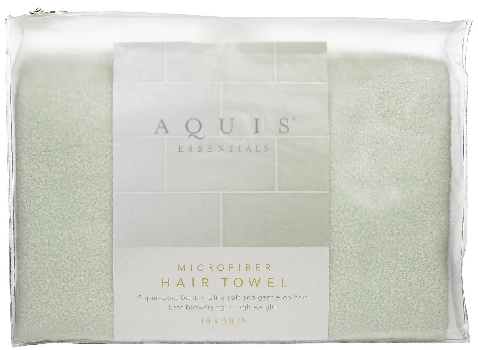 Aquis Microfiber Hair Towel Celadon